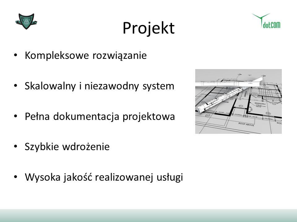 Projekt Kompleksowe rozwiązanie Skalowalny i niezawodny system Pełna dokumentacja projektowa Szybkie wdrożenie Wysoka jakość realizowanej usługi