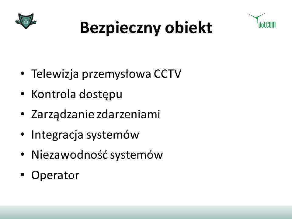 Bezpieczny obiekt Telewizja przemysłowa CCTV Kontrola dostępu Zarządzanie zdarzeniami Integracja systemów Niezawodność systemów Operator