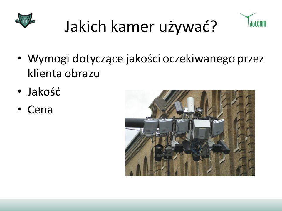 Jakich kamer używać? Wymogi dotyczące jakości oczekiwanego przez klienta obrazu Jakość Cena