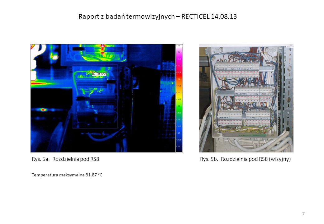 Raport z badań termowizyjnych – RECTICEL 14.08.13 Rys.16a.