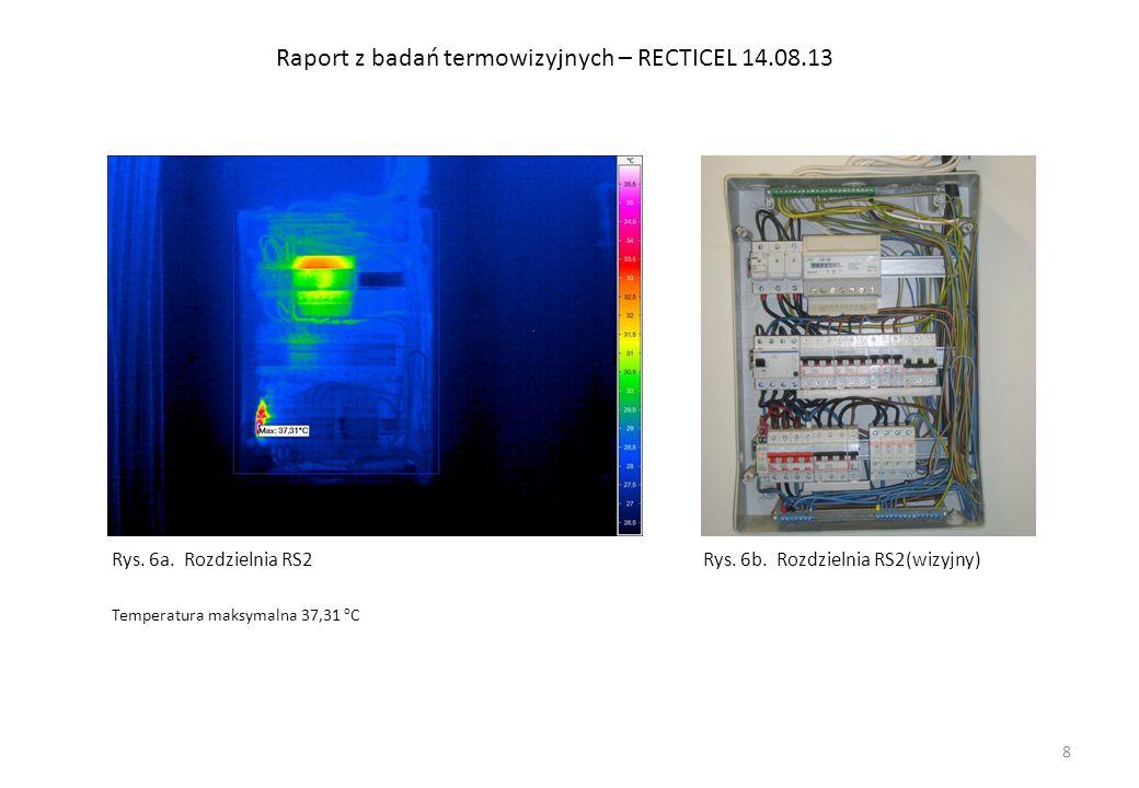 Raport z badań termowizyjnych – RECTICEL 14.08.13 Rys.