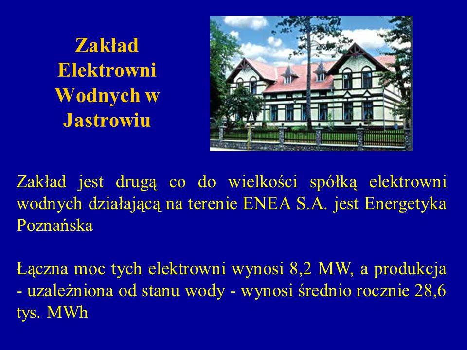 Zakład Elektrowni Wodnych w Jastrowiu Zakład jest drugą co do wielkości spółką elektrowni wodnych działającą na terenie ENEA S.A. jest Energetyka Pozn
