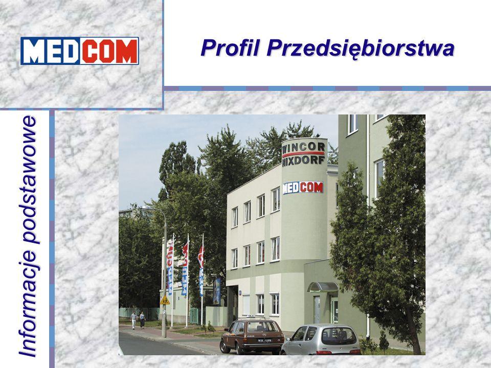 Informacje podstawowe MEDCOM powstał w 1988 roku Kapitał założycielski 400,000.- złotych Ponad 6 tysięcy aplikacji w sektorze energetyki, przemyśle, kolejnictwie i przemyśle zbrojeniowym MEDCOM jest przedsiębiorstwem innowacyjnym ściśle współpracującym z jednostkami naukowymi Politechniką Warszawską - Instytutem Sterowania i Elektroniki Przemysłowej Przemysłowym Instytutem Telekomunikacji Instytutem Elektrotechniki Instytutem Energetyki Centrum Naukowym Techniki Kolejnictwa Zatrudnienie w MEDCOM wynosi 69 osób III Kongres Nowego Przemysłu