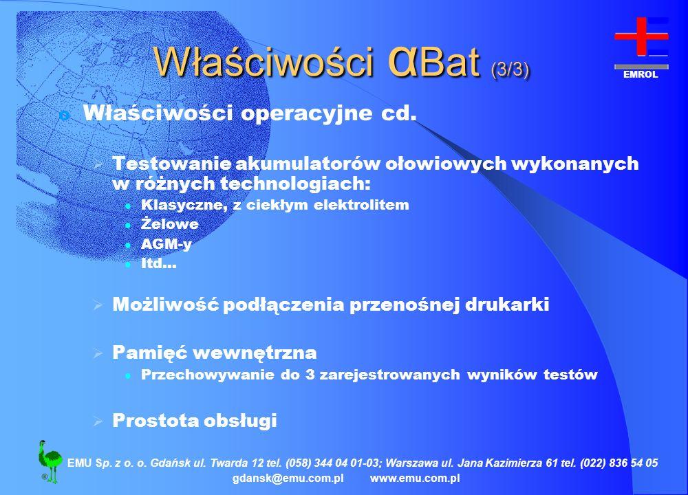 EMROL gdansk@emu.com.plwww.emu.com.pl EMU Sp. z o. o. Gdańsk ul. Twarda 12 tel. (058) 344 04 01-03; Warszawa ul. Jana Kazimierza 61 tel. (022) 836 54