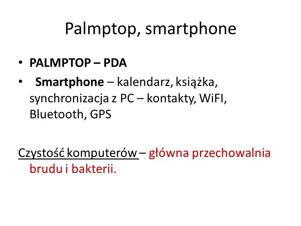 Palmptop, smartphone PALMPTOP – PDA Smartphone – kalendarz, książka, synchronizacja z PC – kontakty, WiFI, Bluetooth, GPS Czystość komputerów – główna