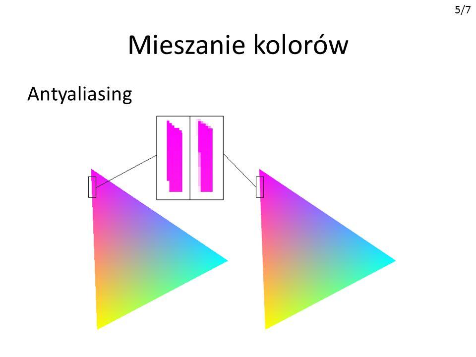 Mieszanie kolorów 5/7 Antyaliasing