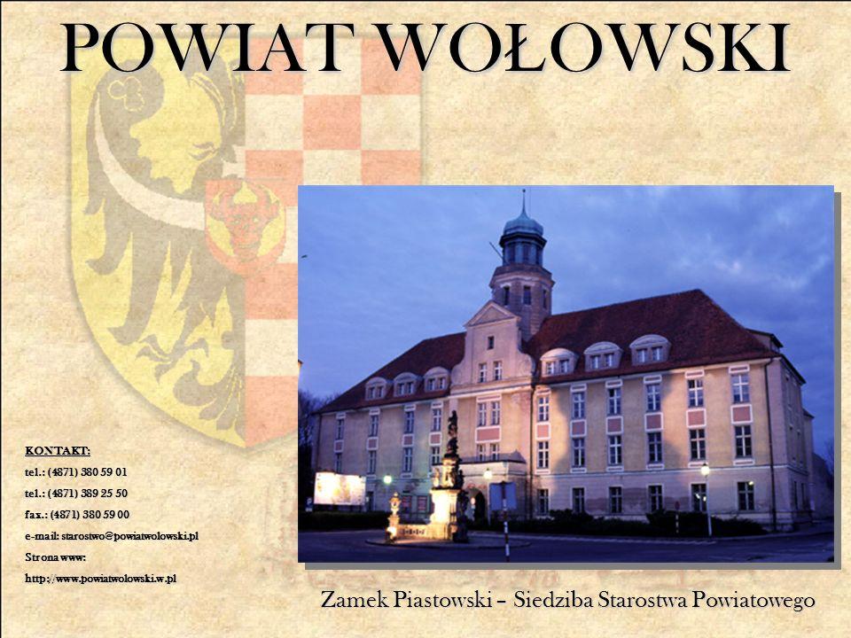 POWIAT WO Ł OWSKI Zamek Piastowski – Siedziba Starostwa Powiatowego KONTAKT: tel.: (4871) 380 59 01 tel.: (4871) 389 25 50 fax.: (4871) 380 59 00 e-mail: starostwo@powiatwolowski.pl Strona www: http://www.powiatwolowski.w.pl