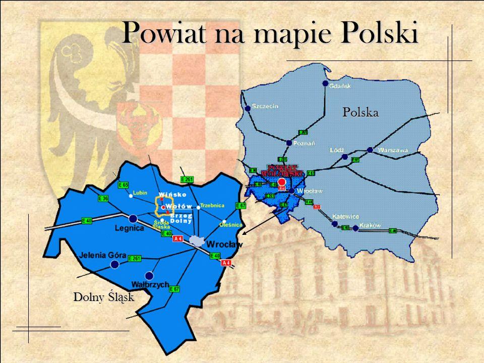 Powiat na mapie Polski Polska Dolny Ś l ą sk