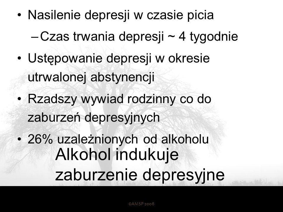 Niezależne zaburzenie depresyjne Poprzedza wystąpienie uzależnienia od alkoholu i/lub występuje w okresie utrwalonej abstynencji Częstszy wywiad rodzi