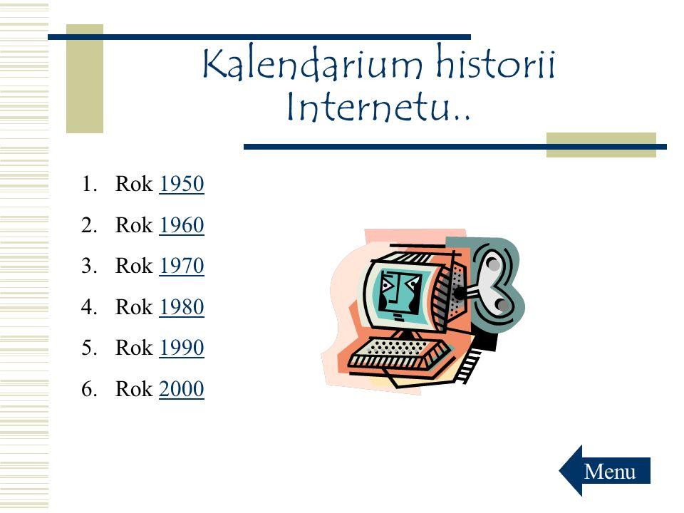 Kalendarium historii Internetu..