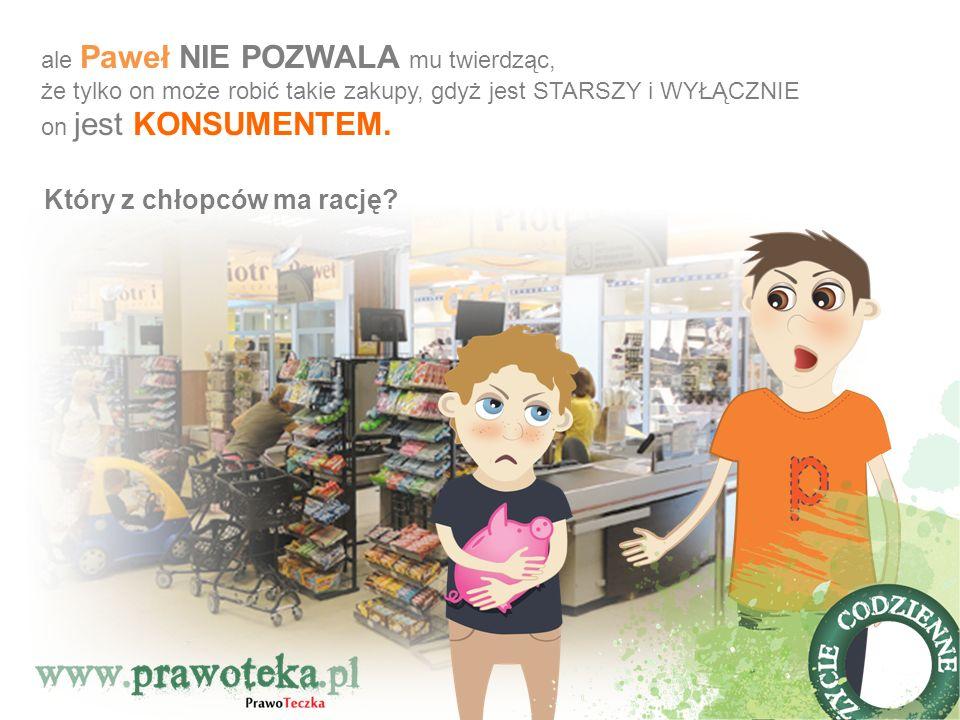 KUPOWANIE w sklepie to CZYNNOŚĆ PRAWNA, czyli ZAWARCIE UMOWY SPRZEDAŻY, gdzie sklep jest SPRZEDAWCĄ a klient – KUPUJĄCYM (DWIE STRONY UMOWY ).