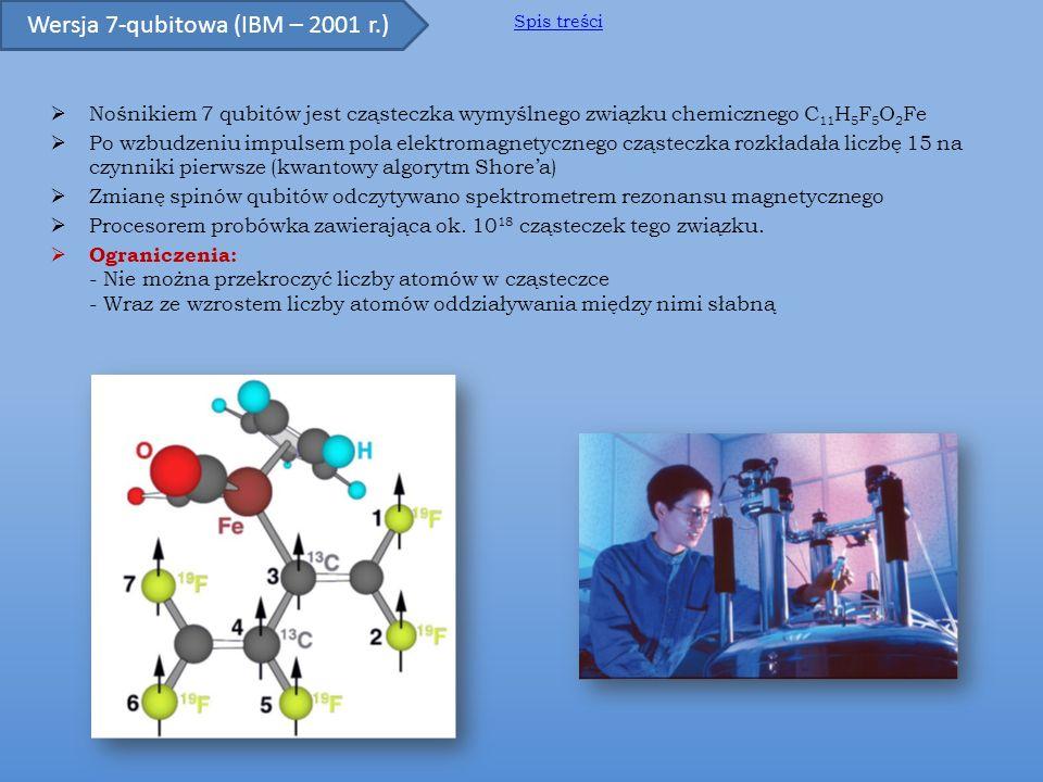Pierwsze udane próby fizycznej realizacji kwantowej jednostki obliczeniowej polegały przeważnie na rozwiązaniach molekularnych.