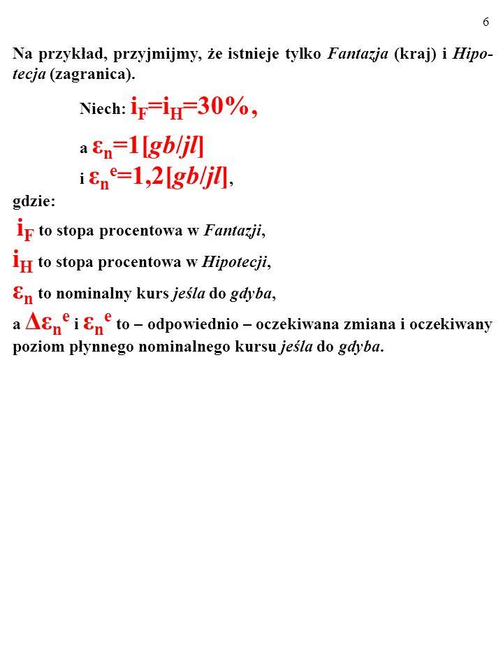 16 Przy innym co do skali przesunięciu linii IS nie jest spełnione rów- nanie i +(Δε n e /ε n )=i z.