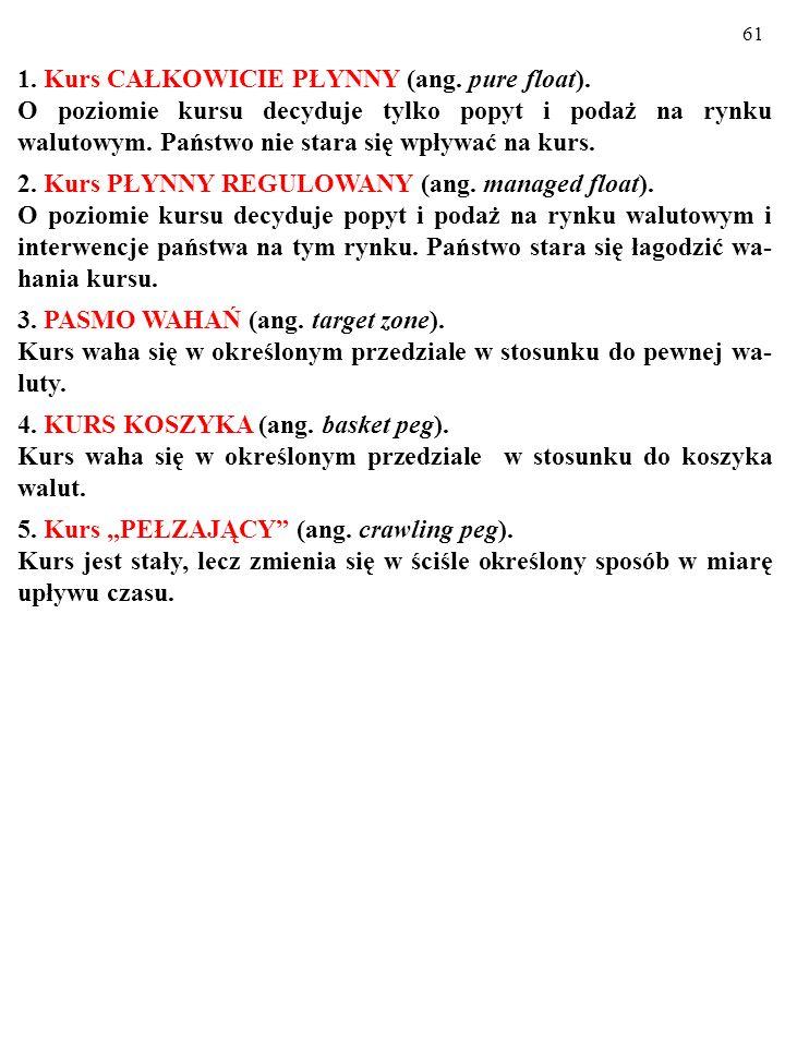 60 1. Kurs CAŁKOWICIE PŁYNNY (ang. pure float).