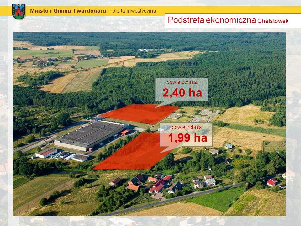 Miasto i Gmina Twardogóra – Oferta inwestycyjna Podstrefa ekonomiczna Chełstówek powierzchnia: 2,40 ha powierzchnia: 1,99 ha