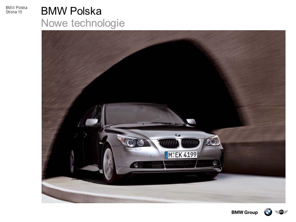 BMW Polska Strona 15 BMW Polska Nowe technologie