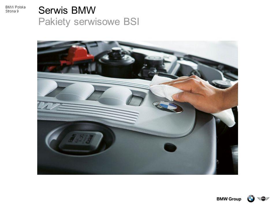 BMW Polska Strona 10 BMW Service Inclusive Poczuj wolność bez granic Jednorazowa stała cena Żadnych dodatkowych kosztów przez cały okres ważności Nieograniczona liczba usług serwisowych Pakiet przypisany do samochodu Argument przy odsprzedaży