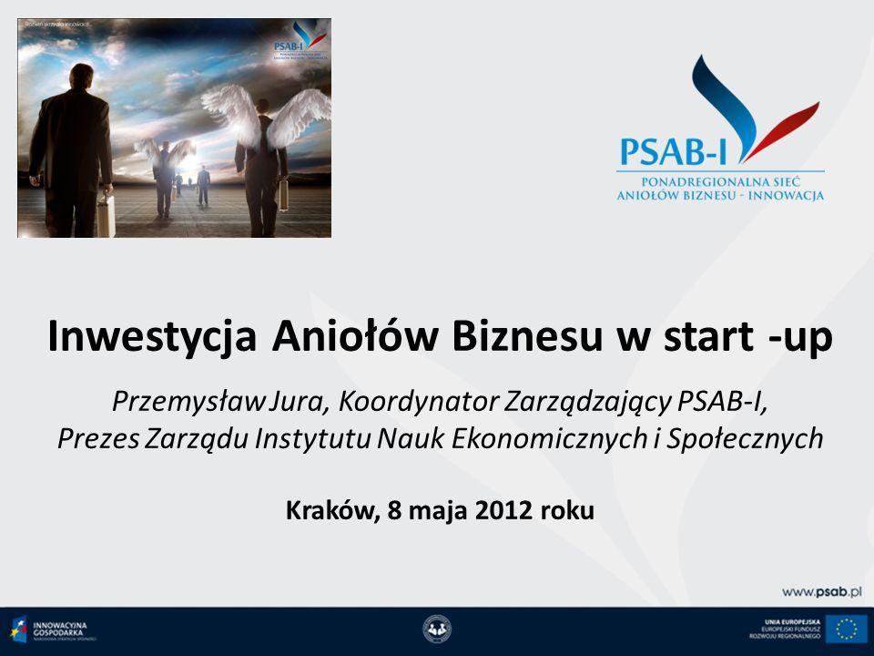 Inwestycja Aniołów Biznesu w start -up Przemysław Jura, Koordynator Zarządzający PSAB-I, Prezes Zarządu Instytutu Nauk Ekonomicznych i Społecznych Kra