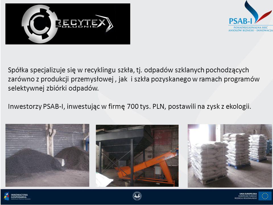 Spółka specjalizuje się w recyklingu szkła, tj. odpadów szklanych pochodzących zarówno z produkcji przemysłowej, jak i szkła pozyskanego w ramach prog