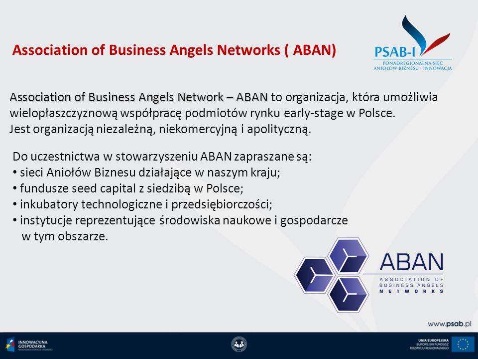 Association of Business Angels Network – ABAN Association of Business Angels Network – ABAN to organizacja, która umożliwia wielopłaszczyznową współpr
