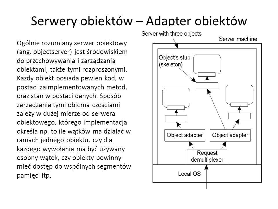 Serwery obiektów – Adapter obiektów Ogólnie rozumiany serwer obiektowy (ang.