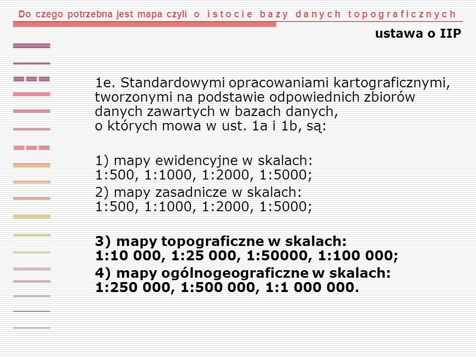 Do czego potrzebna jest mapa czyli o i s t o c i e b a z y d a n y c h t o p o g r a f i c z n y c h wieloreprezentacja obiektów