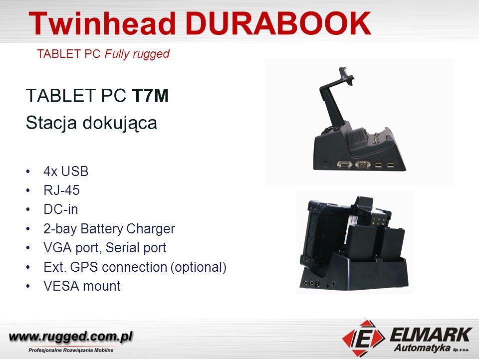 Twinhead DURABOOK TABLET PC T7M Stacja dokująca 4x USB RJ-45 DC-in 2-bay Battery Charger VGA port, Serial port Ext.