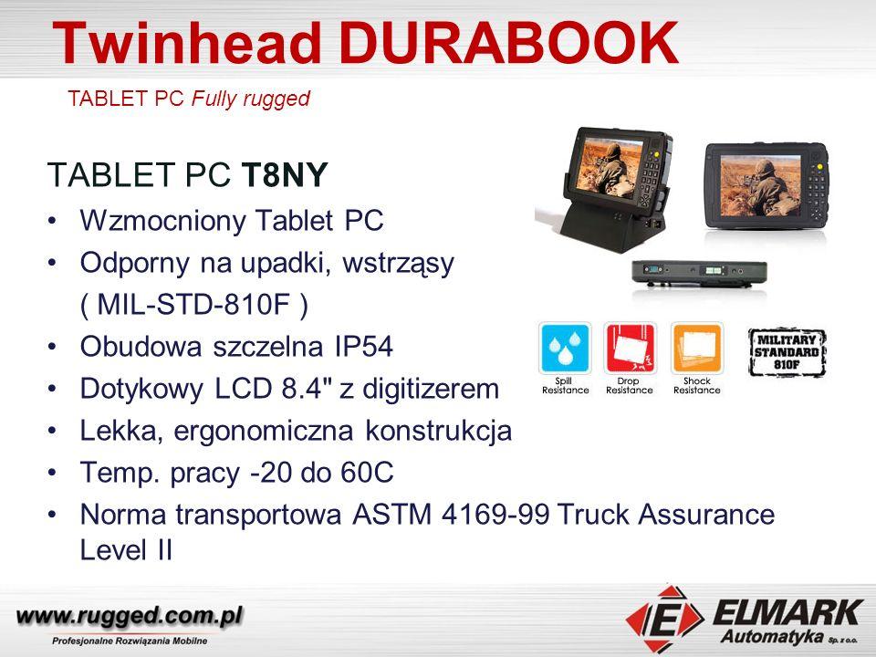 Twinhead DURABOOK TABLET PC T8NY Wzmocniony Tablet PC Odporny na upadki, wstrząsy ( MIL-STD-810F ) Obudowa szczelna IP54 Dotykowy LCD 8.4 z digitizerem Lekka, ergonomiczna konstrukcja Temp.