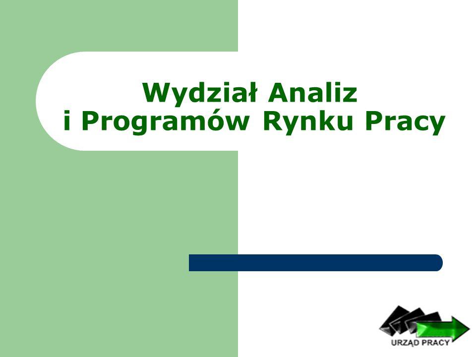 Wydział Analiz i Programów Rynku Pracy