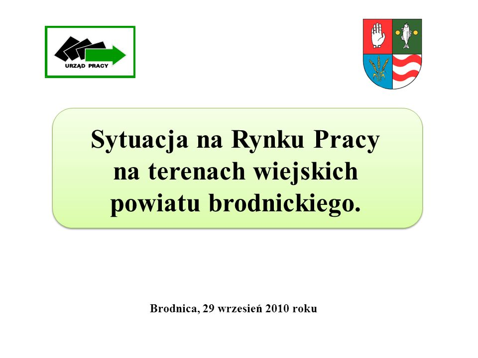 Sytuacja na Rynku Pracy na terenach wiejskich powiatu brodnickiego. Brodnica, 29 wrzesień 2010 roku