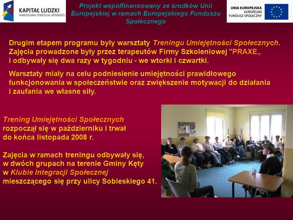 Drugim etapem programu były warsztaty Treningu Umiejętności Społecznych.