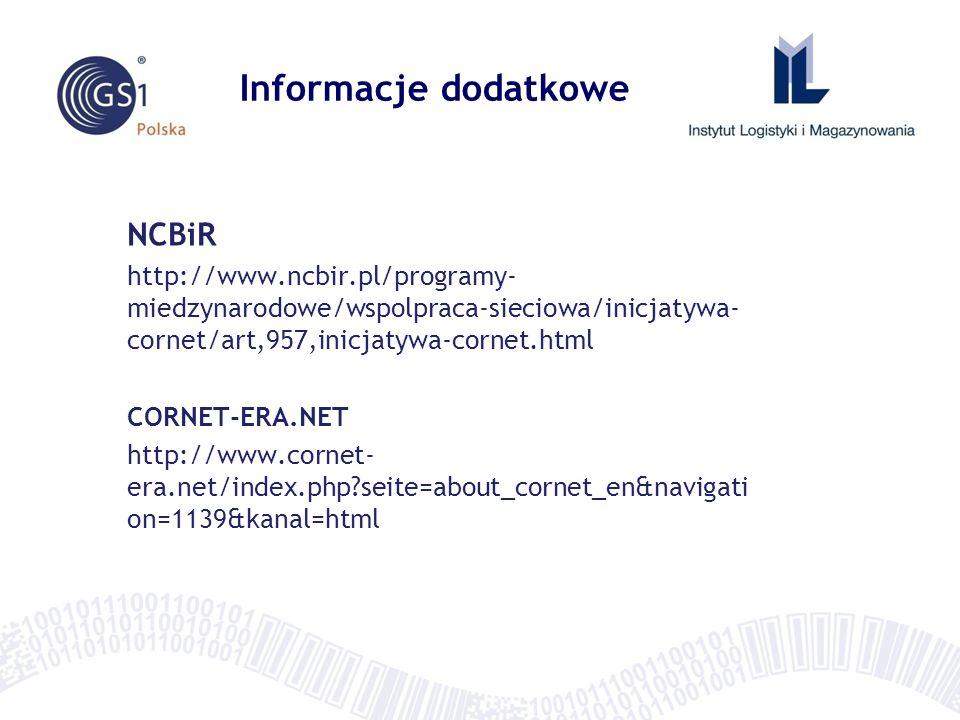 Informacje dodatkowe NCBiR http://www.ncbir.pl/programy- miedzynarodowe/wspolpraca-sieciowa/inicjatywa- cornet/art,957,inicjatywa-cornet.html CORNET-E