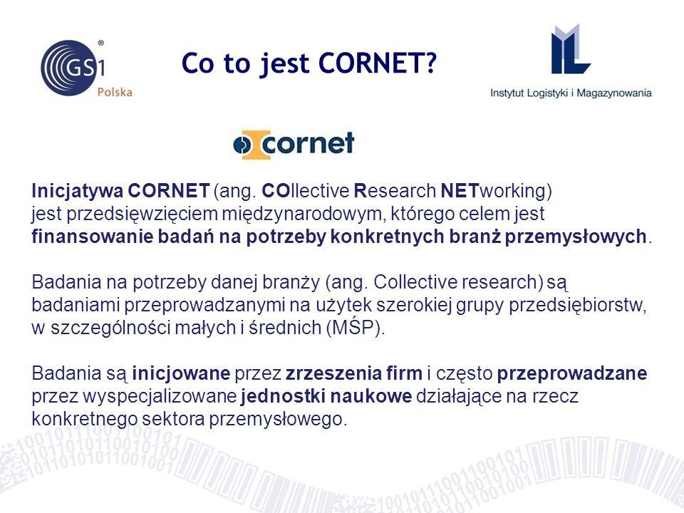 Co to jest CORNET? Inicjatywa CORNET (ang. COllective Research NETworking) jest przedsięwzięciem międzynarodowym, którego celem jest finansowanie bada