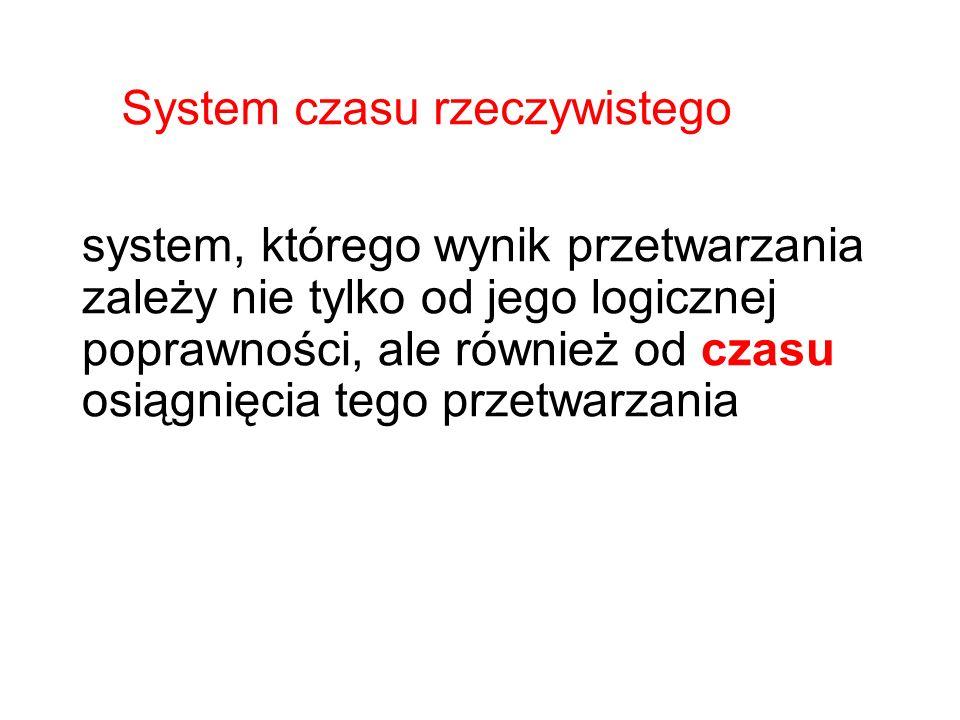 system, którego wynik przetwarzania zależy nie tylko od jego logicznej poprawności, ale również od czasu osiągnięcia tego przetwarzania System czasu r