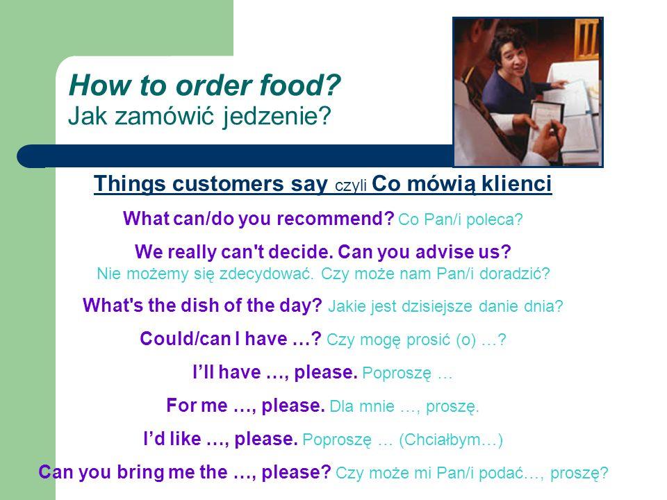 How to order food.Jak zamówić jedzenie.