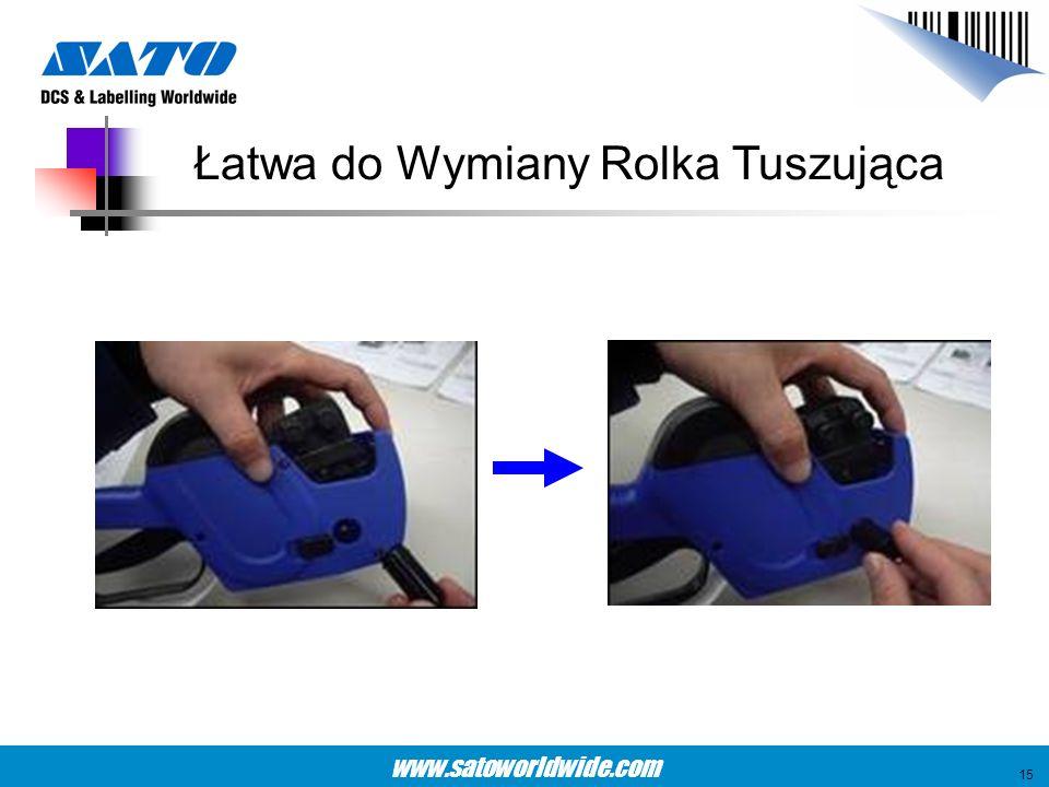 www.satoworldwide.com Łatwa do Wymiany Rolka Tuszująca 15