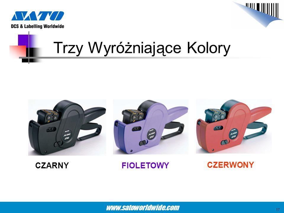 www.satoworldwide.com Trzy Wyróżniające Kolory CZARNYFIOLETOWY CZERWONY 17