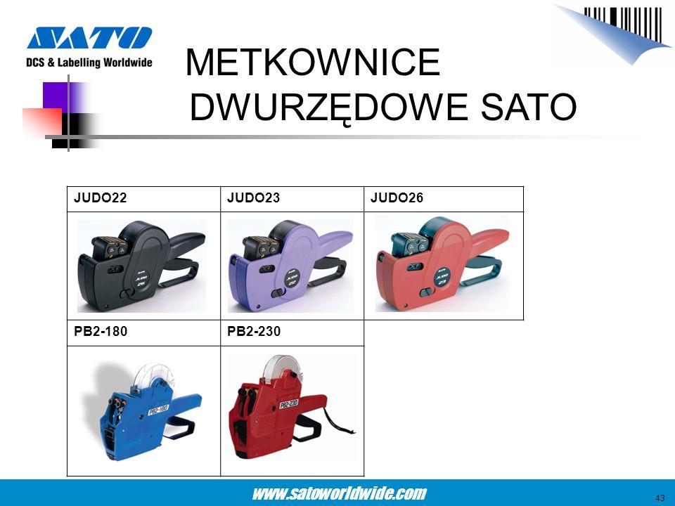 www.satoworldwide.com METKOWNICE DWURZĘDOWE SATO JUDO22JUDO23JUDO26 PB2-180PB2-230 43
