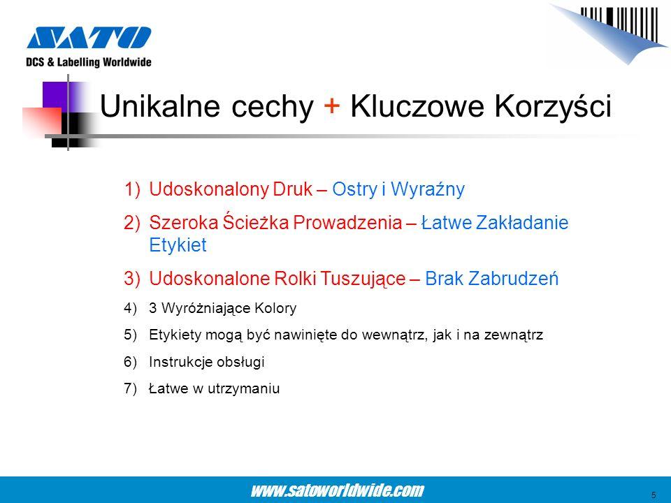 www.satoworldwide.com Wyraźny Wydruk – Duże Czcionki (5mm wysokości) Ostry wydruk 6
