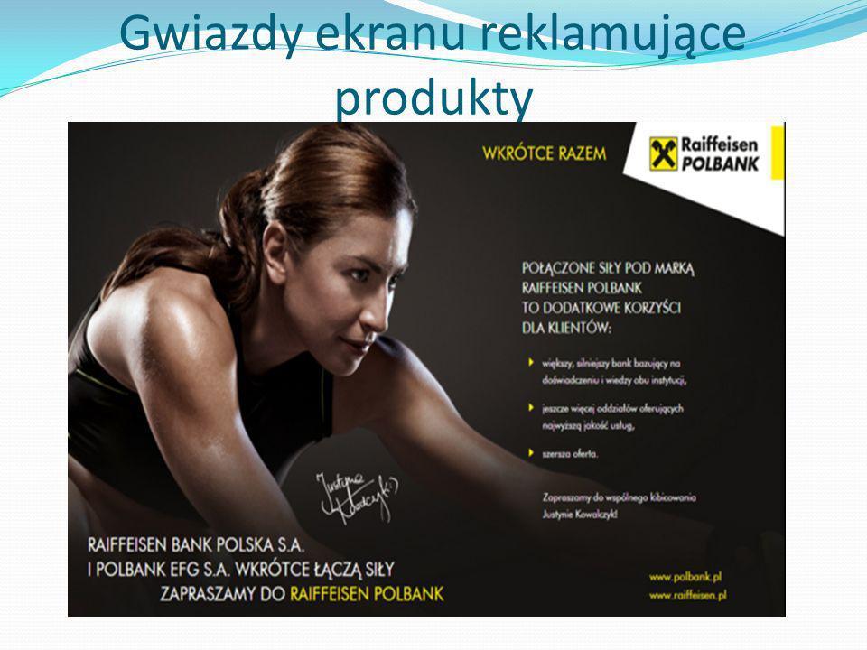 Gwiazdy ekranu reklamujące produkty