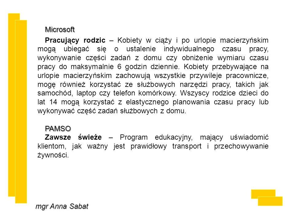 mgr Anna Sabat Microsoft Pracujący rodzic – Kobiety w ciąży i po urlopie macierzyńskim mogą ubiegać się o ustalenie indywidualnego czasu pracy, wykony