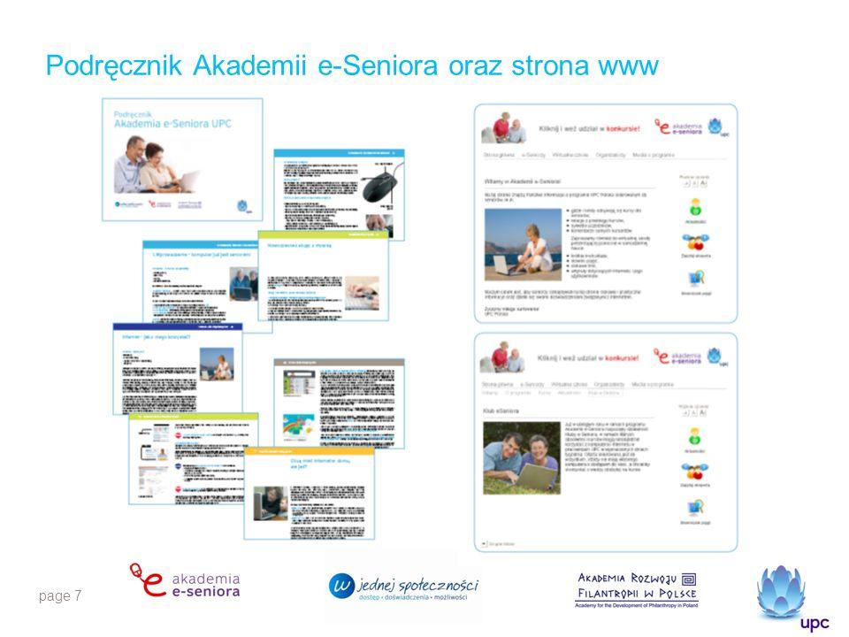 page 7 Podręcznik Akademii e-Seniora oraz strona www