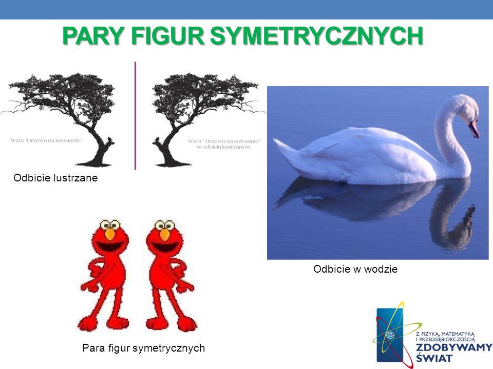 PARY FIGUR SYMETRYCZNYCH Odbicie w wodzie Para figur symetrycznych Odbicie lustrzane