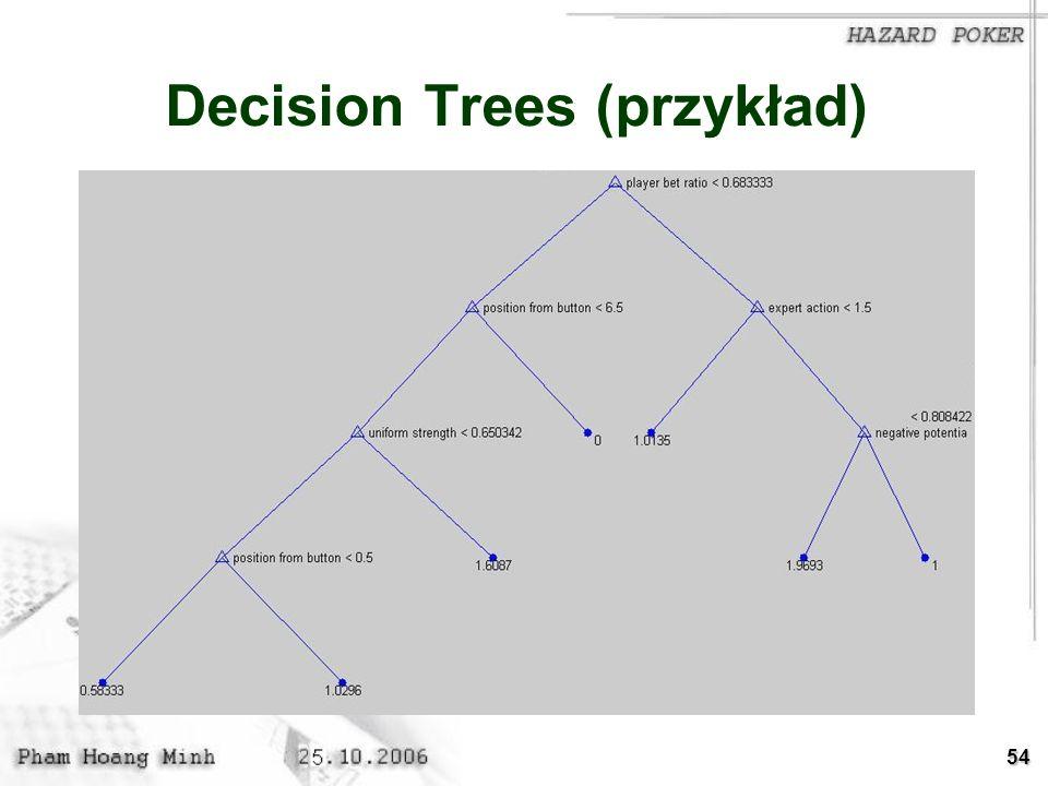54 Decision Trees (przykład)