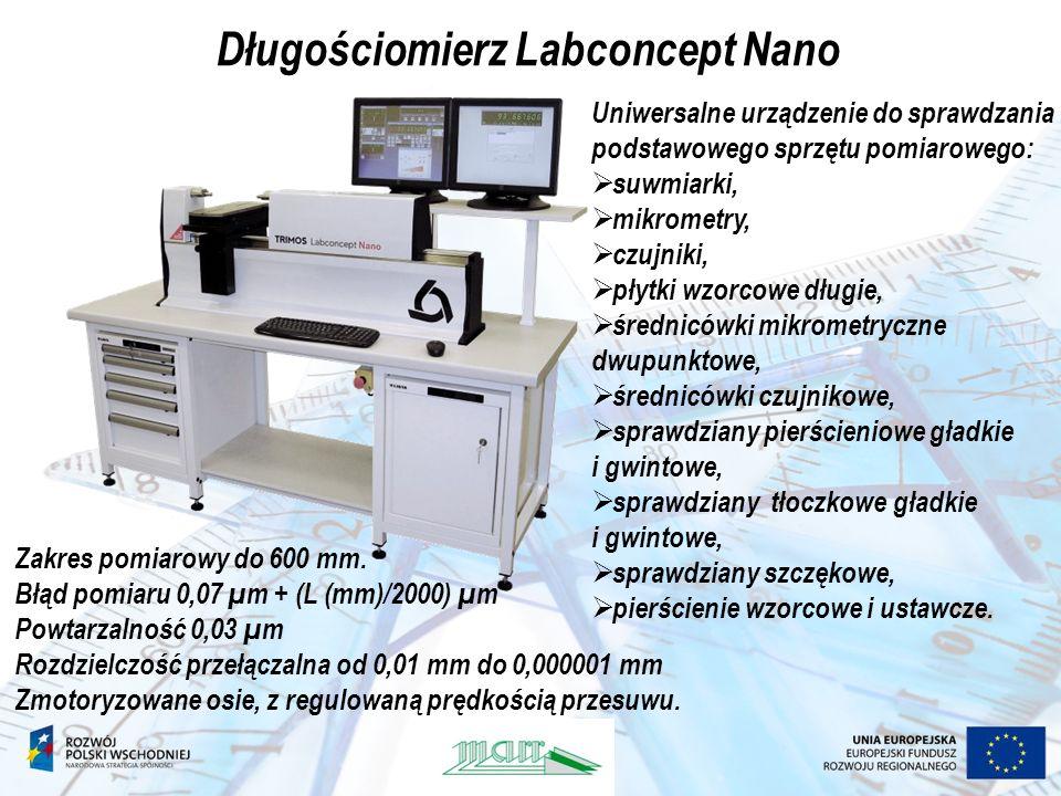 Długościomierz Labconcept Nano Uniwersalne urządzenie do sprawdzania podstawowego sprzętu pomiarowego: suwmiarki, mikrometry, czujniki, płytki wzorcow