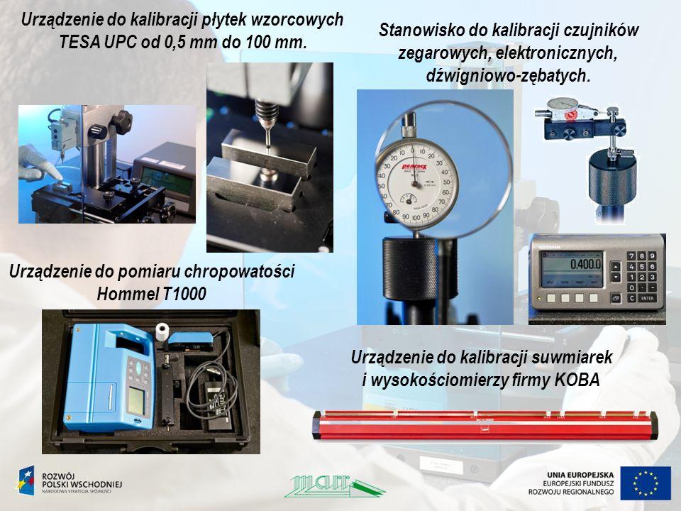 Urządzenie do kalibracji płytek wzorcowych TESA UPC od 0,5 mm do 100 mm. Stanowisko do kalibracji czujników zegarowych, elektronicznych, dźwigniowo-zę