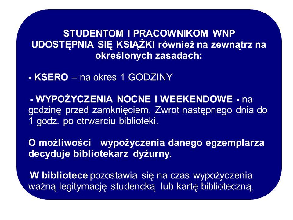 NA STRONIE możemy znaleźć : AKTUALNOŚCI I GODZINY OTWARCIA BIBLIOTEKI, DOSTĘP DO GŁÓWNEGO KATALOGU ON-LINE ORAZ DO INNYCH KATALOGÓW I MULTIWYSZUKIWAREK BIBLIOTEK: szczecińskich, zachodniopomorskich, polskich, oraz zagranicznych DOSTĘP DO E-ŹRÓDEŁ: pełnotekstowych i bibliograficznych baz artykułów z czasopism naukowych, e- poradników do pisania prac mgr, e-książek i innych dokumentów cyfrowych, czasopism online, bibliotek cyfrowych, portali i wyszukiwarek naukowych itp… http://www.us.szc.pl/b_wnp