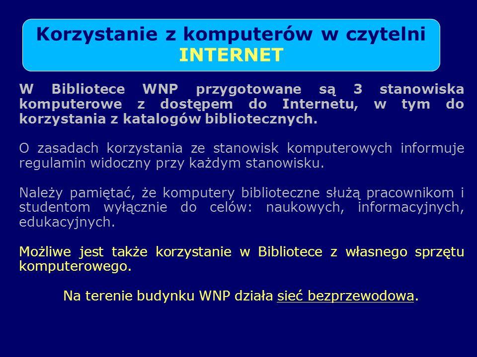 KONTAKT Z BIBLIOTEKĄ WYDZIAŁU NAUK PRZYRODNICZYCH Tel.: (091)- 444 -15-23 e-mail: biologia@bg.univ.szczecin.pl biologia@bg.univ.szczecin.pl http://www.us.szc.pl/b_wnp