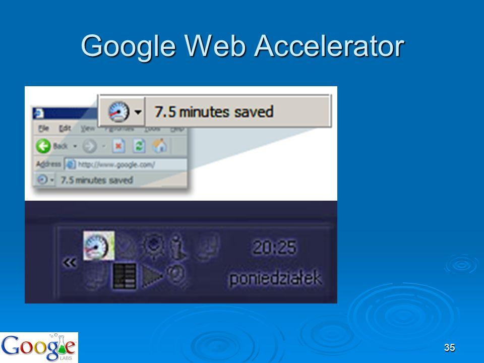 35 Google Web Accelerator