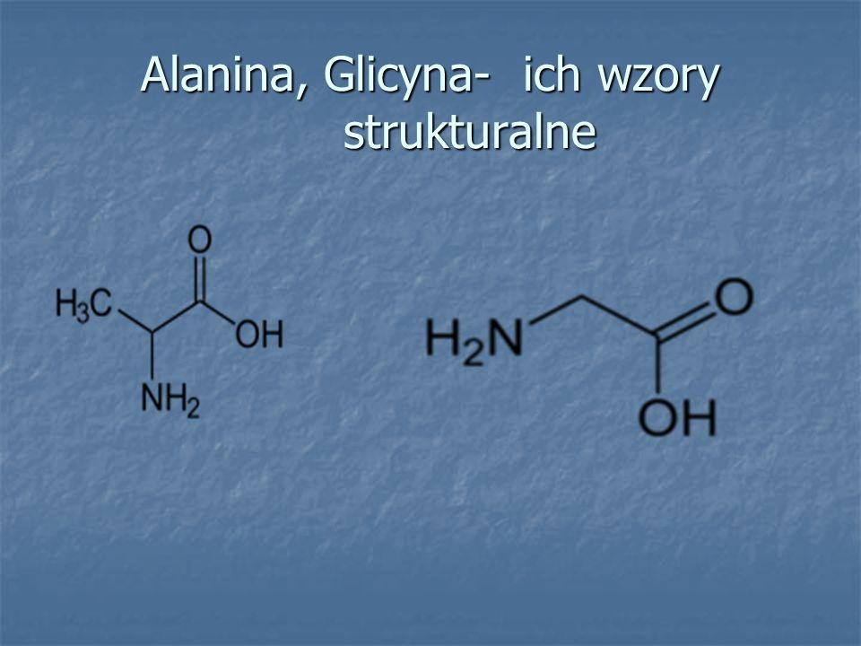 Alanina, Glicyna- ich wzory strukturalne